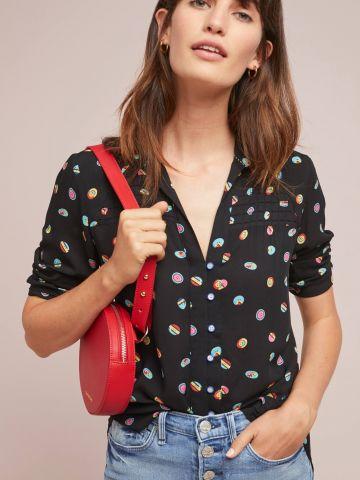חולצה מכופתרת בהדפס כפתורים צבעוניים 52 Conversations