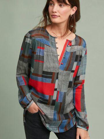 חולצת טוניקה בהדפס גיאומטרי Conditions Apply