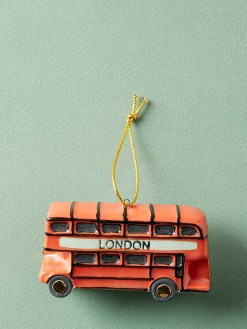 קישוט קרמיקה דקורטיבי בצורת אוטובוס קומותיים
