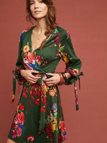 שמלת מעטפת מיני בהדפס פרחים Eva Franco