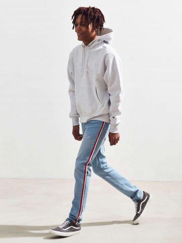ג'ינס סקיני עם סטריפים בצדדים BDG