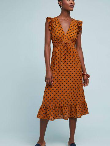 שמלת מידי נקודות בשילוב מלמלה Rahi Cali