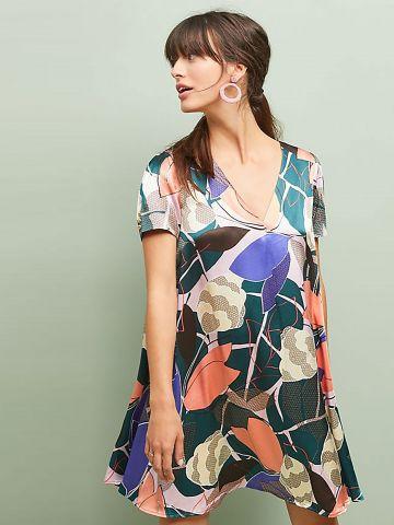 שמלת מיני בהדפס פרחים גאומטרי Corey Lynn Calter