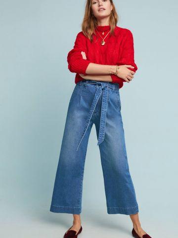 ג'ינס פייפרבאג עם חגורת קשירה Pilcro and the Letterpress