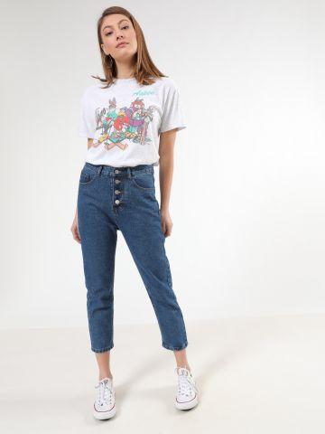 ג'ינס Mom בשילוב כפתורים