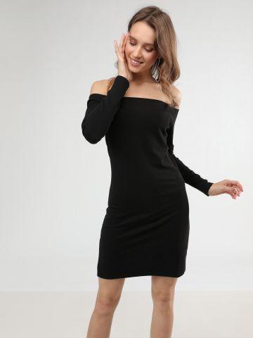 שמלת מיני ריב אוף שולדרס עם שסע