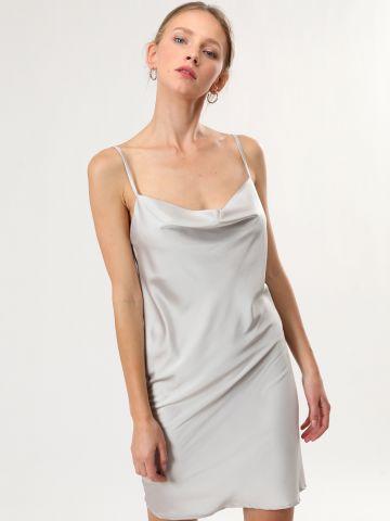 שמלת סאטן מיני