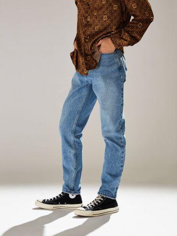 ג'ינס בשטיפה בהירה בגזרת סלים BDG