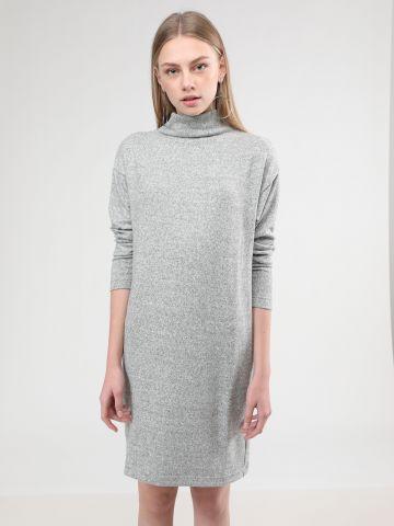שמלת מידי סריג פליז מלאנז'
