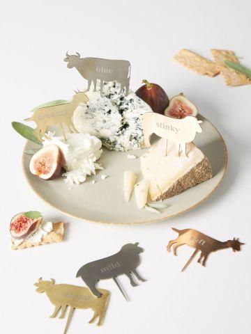 מארז 6 קיסמי גבינה בצורת חיות