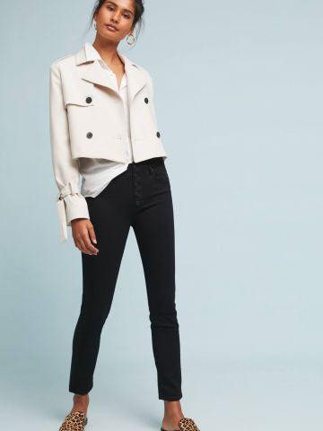 ג'ינס סקיני בגזרה גבוהה עם כפתורים בחזית Paige