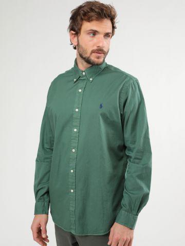 חולצה מכופתרת עם לוגו Classic Fit