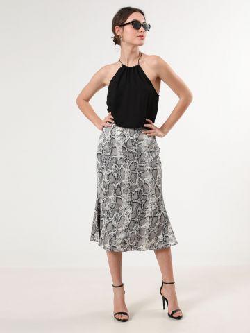 חצאית מידי בהדפס נחש
