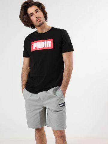 מכנסיים קצרים עם פאץ' לוגו