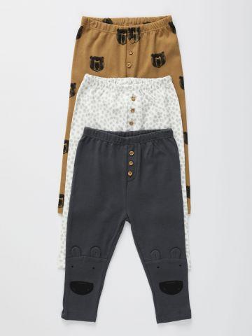 מארז 3 מכנסיים דקים בהדפסים שונים / 0-2Y