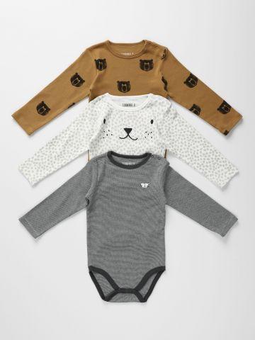 מארז 3 בגדי גוף בהדפסים שונים / 0-2Y