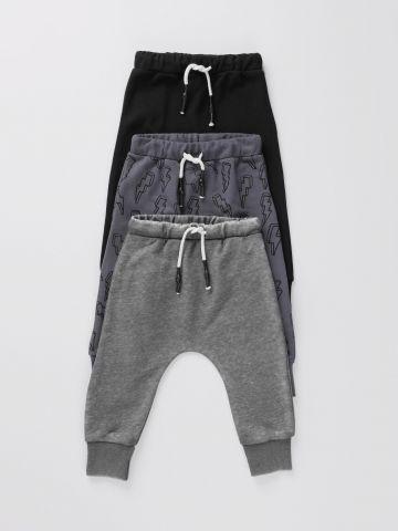 מארז 3 מכנסי טרנינג בהדפסים / 0M-6Y
