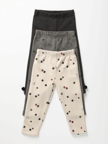מארז 3 מכנסי פוטר בהדפסים שונים / 0-6Y