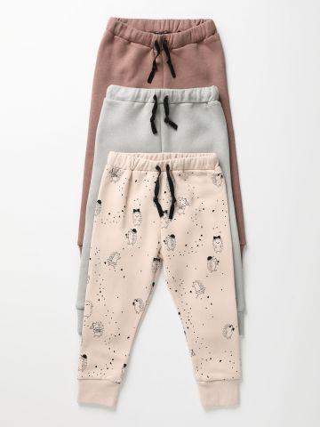 מארז 3 מכנסי טרנינג פוטר / 0M-6Y