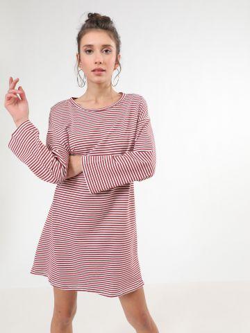שמלת מיני בהדפס פסים