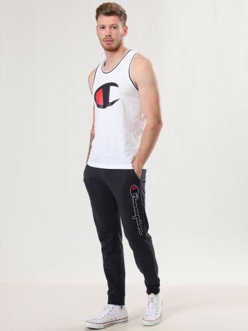 מכנסי טרנינג עם פאץ' לוגו מגבת