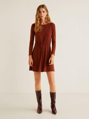 שמלת מיני עם שרוך כיווץ במותן