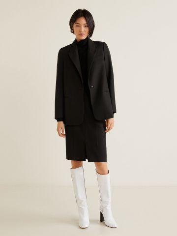חצאית מידי מחוייטת עם שסע
