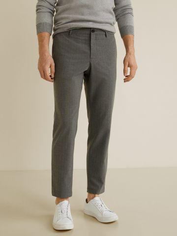 מכנסיים מחויטים סלים בהדפס פסים
