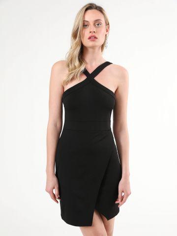שמלת מעטפת מיני עם צווארון קולר איקס של TERMINAL X