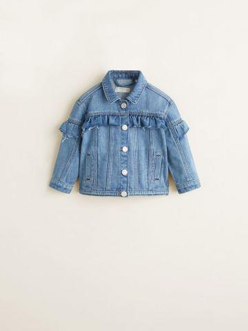 ג'קט ג'ינס עם עיטורי מלמלה / בייבי בנות