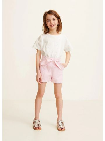 מכנסיים קצרים עם עיטור פפיון