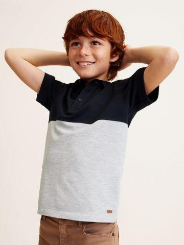חולצת פולו שני צבעים / בנים