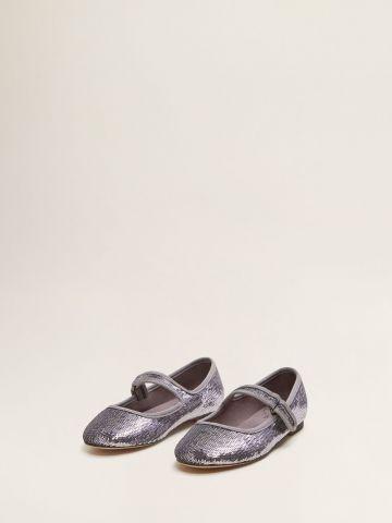 נעלי בובה גליטר/ בנות