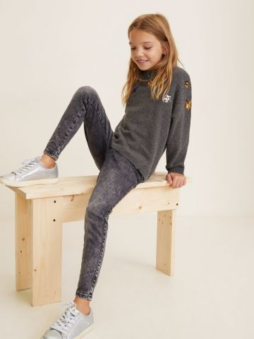 ג'ינס Slim-fit עם שפשופים