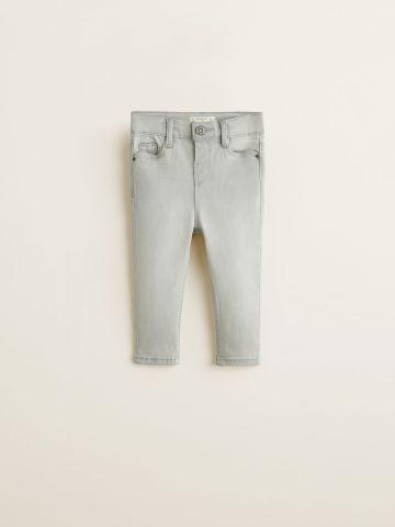 ג'ינס סקיני בשטיפה בהירה עם כיסים / בייבי בנות