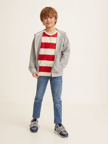 ג'ינס קלאסי עם כיסים