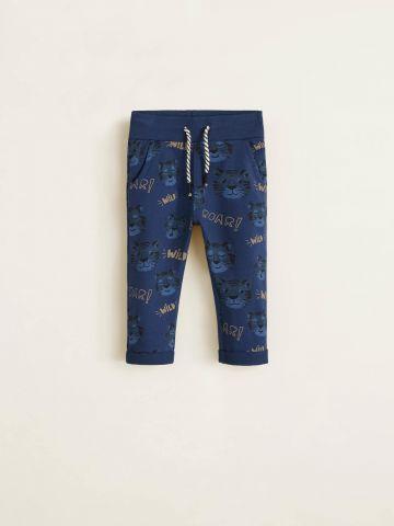 מכנסי טרנינג בהדפס נמרים / בייבי בנים