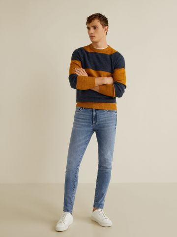 ג'ינס סקיני בשטיפה בהירה