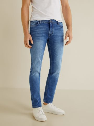 ג'ינס סלים עם הבהרה