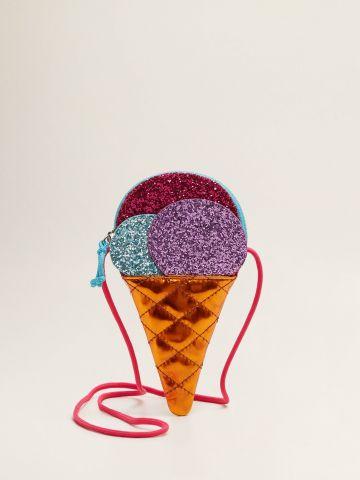 תיק צד גלידה באפקט גליטר / בנות