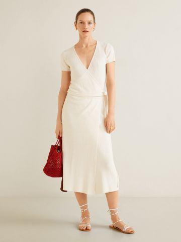 חצאית מידי מגבת בסגנון מעטפת