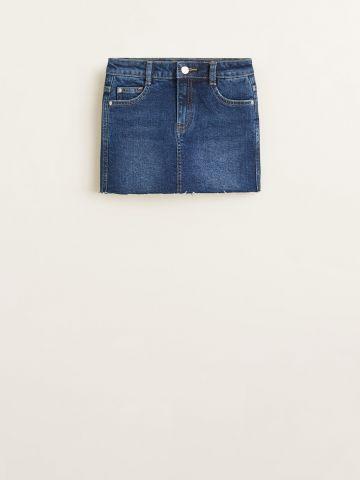 מכנסי חצאית ג'ינס קצרים / בנות