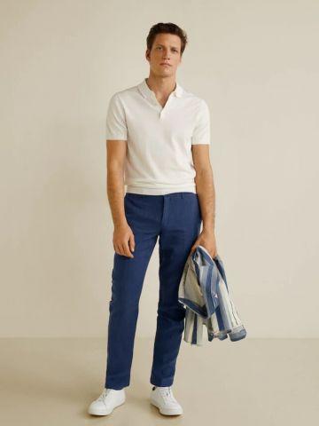 מכנסיים ארוכים בגזרת Slim-fit