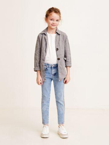 ג'ינס סקיני ווש בעיטור חרוזים