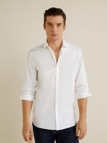 חולצה מכופתרת בייסיק Slim- fit