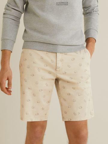 מכנסי ברמודה בהדפס פילים