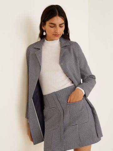 חצאית מיני בהדפס פפיטה עם כיסים