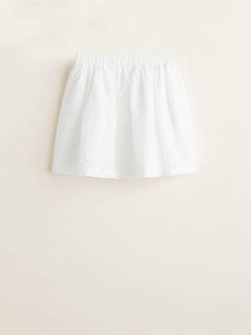 חצאית מיני עם עיטורי רקמה / בנות
