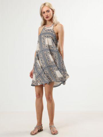 שמלת מיני בהדפס בנדנה