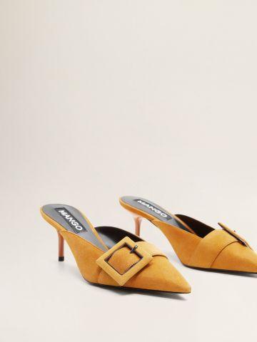 נעלי עור מיולז עם עקב סטילטו / נשים